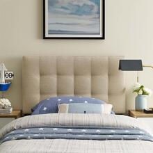 View Product - Lily Twin Upholstered Fabric Headboard in Beige