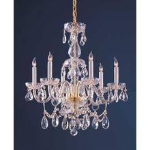 See Details - Traditional Crystal 6 Light Polished Brass Hand Cut Crystal Chandelier
