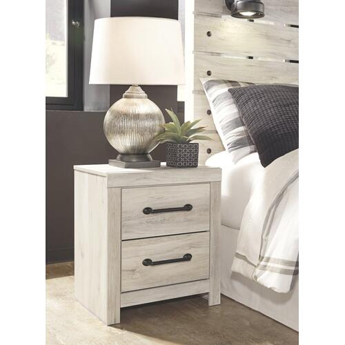 Queen Panel Bed With 4 Storage Drawers With Mirrored Dresser, Chest and 2 Nightstands