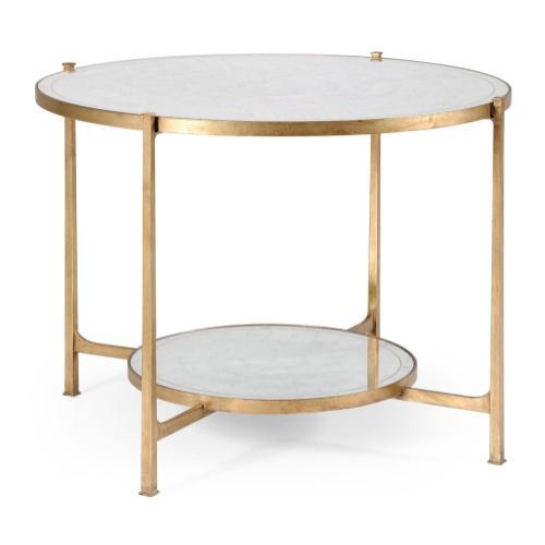 glomise & Gilt Iron Centre Table