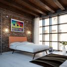Tracy 4 Piece Queen Bedroom Set in Cappuccino Orange Product Image