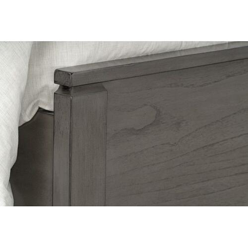 Winchester Grey Queen Panel Bed