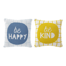 """See Details - Mini """"Be Happy & Be Kind"""" Knit Pillow (4 pc. ppk.)"""