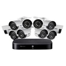 4K Ultra HD 16-Channel Security System with 2 TB DVR and Ten 4K Ultra HD Color Night Vision Bullet Cameras with Smart Home Voice Control