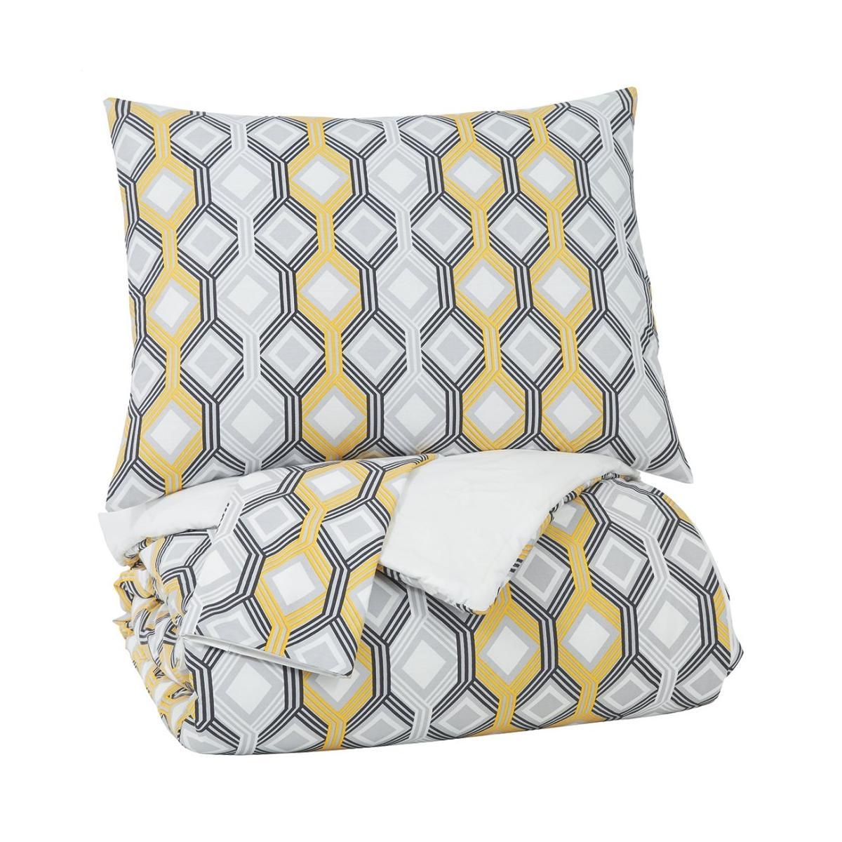 See Details - Mato 3-piece King Comforter Set