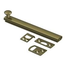 """View Product - 6"""" Surface Bolt, Concealed Screw, HD - Antique Brass"""