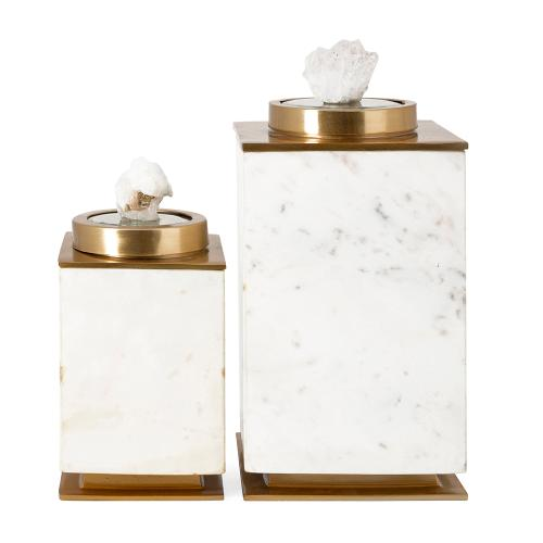 A & B Home - S/2 Decorative Canisters