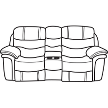 Westport Leather Gliding Reclining Loveseat with Console