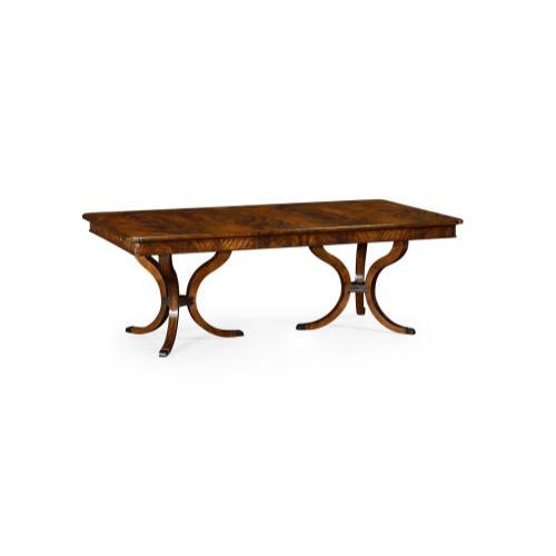 """132"""" Brown Mahogany Dining Table"""