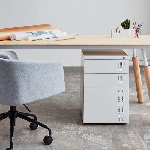 Perf File Cabinet White