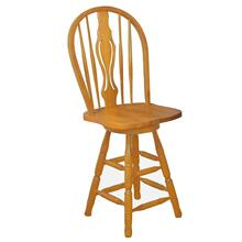 "DLU-B124-24-LO  24"" Keyhole Barstool  Light Oak Finish"
