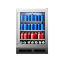View Product - 140 Can Freestanding Stainless Steel Beverage Cooler