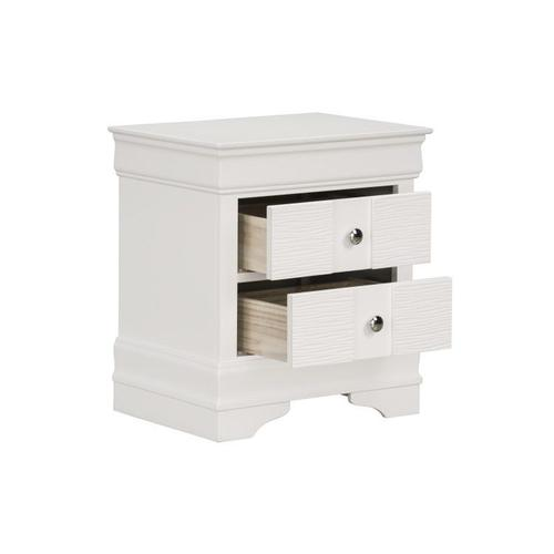 Wave White Nightstand