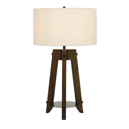 150W 3 Way Bilzen Ash Wood Tripod Table Lamp