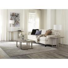 Adelyn - Rectangular Side Table - Crema Gray Finish