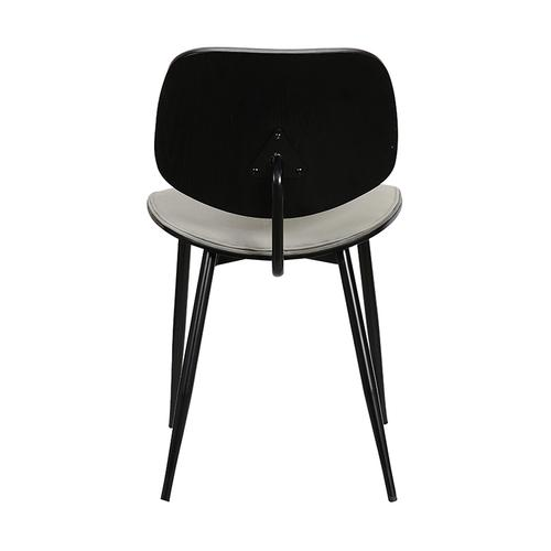 Armen Living - Lizzy Grey Velvet Modern Dining Accent Chairs - Set of 2