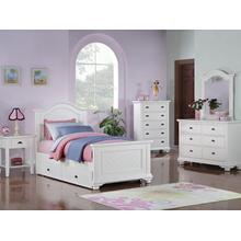 BP777DRW Brook Youth White Dresser