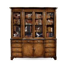 Serpentine Architrave Walnut China Cabinet