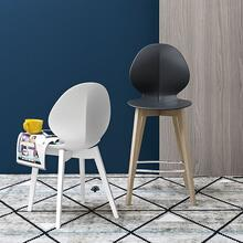 Polypropylene and wooden stool