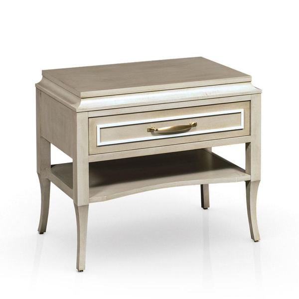 """See Details - Haley Nightstand with Shelf, Extra Wide, Standard - 24 """"w x 18 """"d x 27 """"h"""