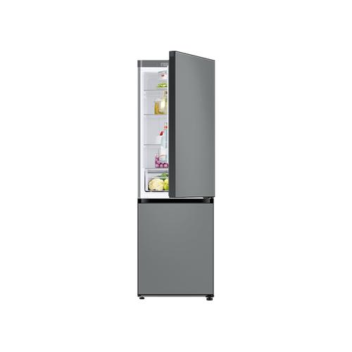 12.0 cu. ft. BESPOKE Bottom Freezer refrigerator with customizable colors and flexible design in Grey Glass