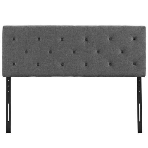 Terisa King Upholstered Fabric Headboard in Gray