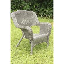 Maui Camelback Resin Wicker/ Steel Frame Outdoor Patio Chair (Set of 1) - Weathered Gray