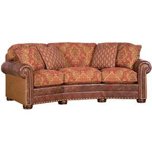 King Hickory - Ricardo Leather/Fabric Conversation Sofa