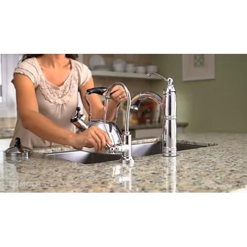 Sip Traditional Chrome one-handle high arc beverage faucet