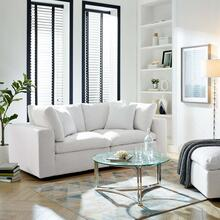 Commix Down Filled Overstuffed 2 Piece Sectional Sofa Set in White