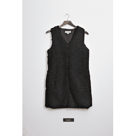 WB Shearling Long Vest - Black (3 pc. ppk.)