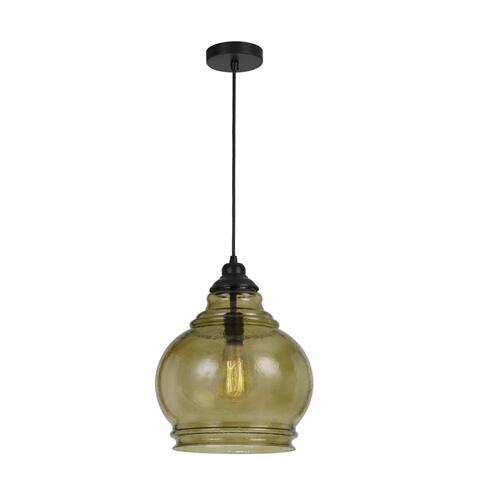 60W Rovigo RippLED Glass Pendant (Edison Bulb Not included)
