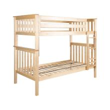 Twin/Twin Bunk Bed Natural