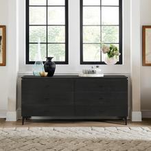 View Product - Legend Black Glaze Ash Veneer 6 Drawer Dresser with Metal Legs