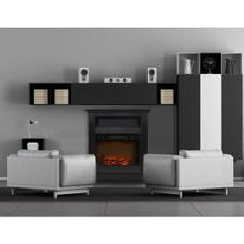 See Details - Cambridge Sienna 34 In. Electric Fireplace w/ 1500W Log Insert and Black Coffee Mantel, CAM3437-1COF