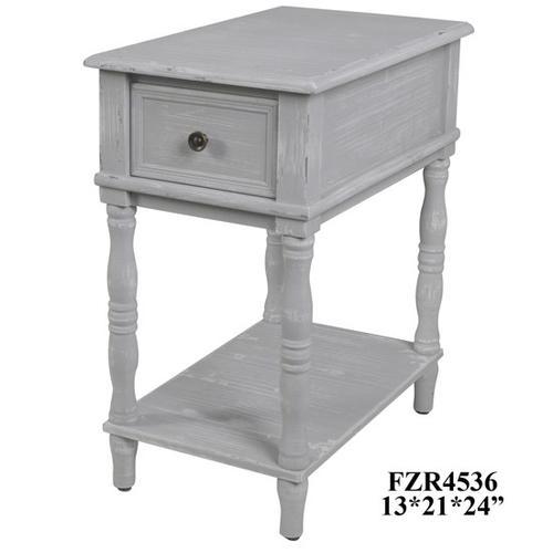 Product Image - Weston Chalk Grey 1 Drawer Chairside