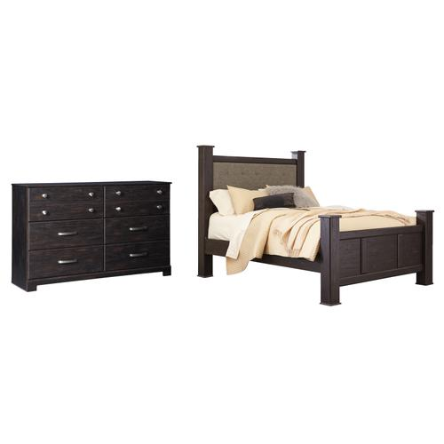 Queen Poster Bed With Dresser