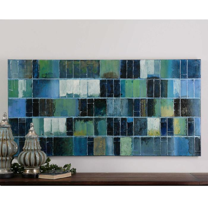 Uttermost - Glass Tiles Hand Painted Canvas