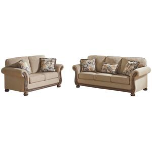 Traditional Westerwood 2 Pc Sofa and Loveseat by Ashley 4960138 4960135