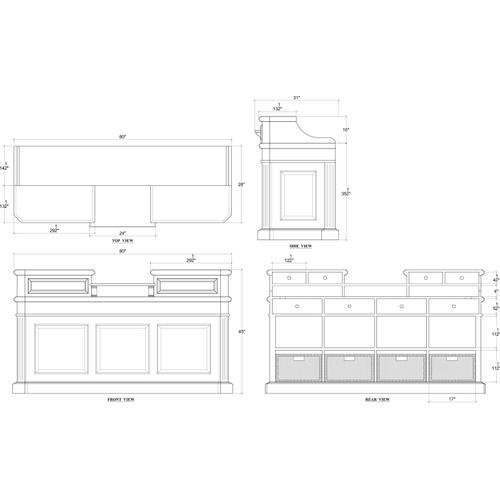 Gallery - Ashton Service Counter w/ Rattan Basket