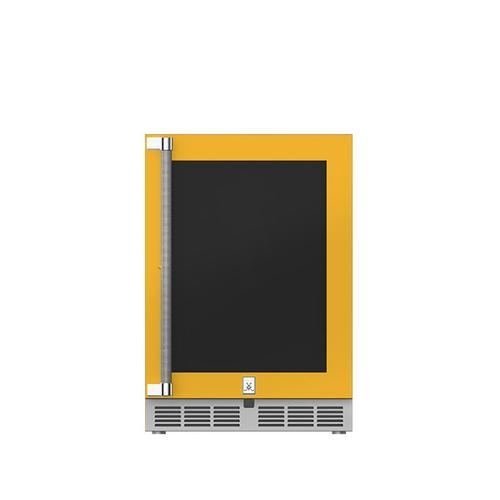 """Hestan - 24"""" Hestan Outdoor Undercounter Refrigerator (Glass Door) - GRGR Series - Sol"""