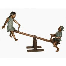Boy and girl on Sseesaw