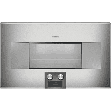 "400 series 400 series Combi-steam oven Stainless steel-backed full glass door Left-hinged Controls at the bottom Width 30"" (76 cm)"