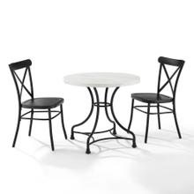 "MADELEINE 32"" 3PC DINING SET W/CAMILLE CHAIRS"