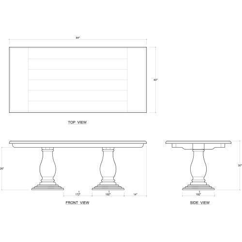 Whitehall Pedastal Table 84''