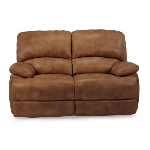 Product Image - Dylan Leather Power Reclining Loveseat with Chaise Footrests
