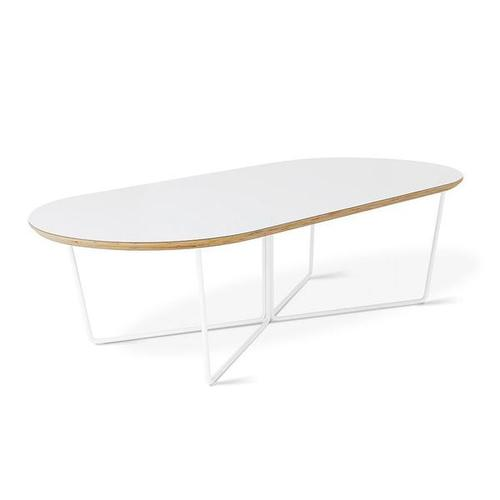 Array Coffee Table - Oval White