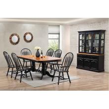DLU-TCP4284-4130A-22BHAB9PC  9 Piece Double Pedestal Trestle Dining Set with China Cabinet  Antique Black