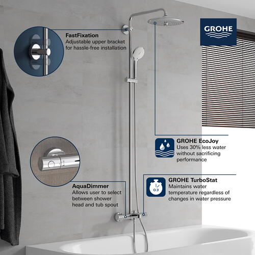 Euphoria 260 Thermostatic Bath/shower System, 1.75GPM