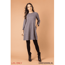 Crossroads Striped Dress - L/XL (3 pc. ppk.)